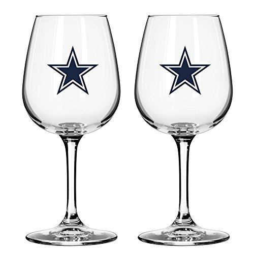 Nfl Wine (NFL Dallas Cowboys Game Day Wine Glass, 12-ounce, 2-Pack)