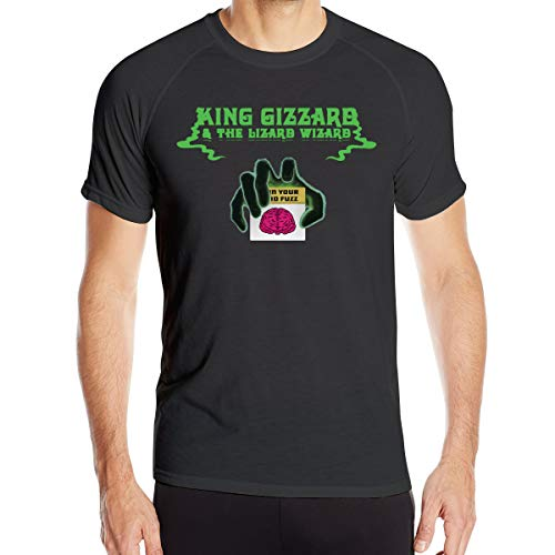 King Gizzard and Lizard Wizard Im in Your Mind Fuzz Men's Running Short Sleeve T Shirts M Black