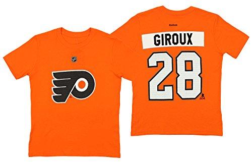 (Claude Giroux Philadelphia Flyers NHL Youth HD Net Player T-shirt Orange (Youth Medium 10/12))