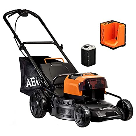 AEG batería Cortacésped 50 V INKL. Batería 4 Ah y Cargador: Amazon ...