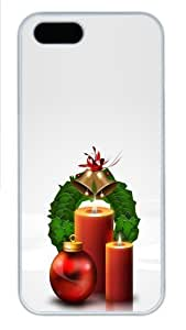 Christmas decoration balls and candles Custom iPhone 5s/5 Case Cover Polycarbonate White New Year gift