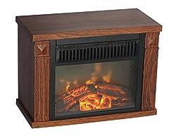 Comfort Glow EMF160 Mini Hearth Electric Fireplace, Wood Grain 4100 BTUs from World Marketing of America