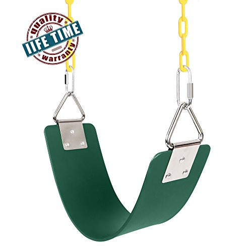 Ancheer Swing Seat with Metal Triangle Hook, Replacement Accessories for Children Playground Swing (Accessory Metal Hooks)