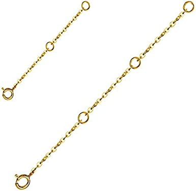 Sterling Silver Rolo Safety Chain Extenders for Necklace Bracelet Select Sets