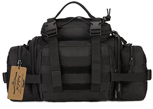 Bag Man Tool Carrier (ArcEnCiel Mens Fanny Pack Military Duffle Molle Tactical Cargo Gear Shoulder Bag (Black))