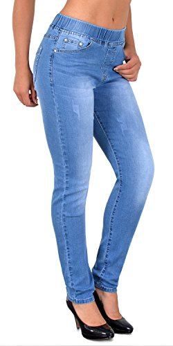 by-tex ESRA Jean Femme Skinny avec Ceinture lastique Skinny Jeggings pour Femmes Pantalon Femme J291 J409