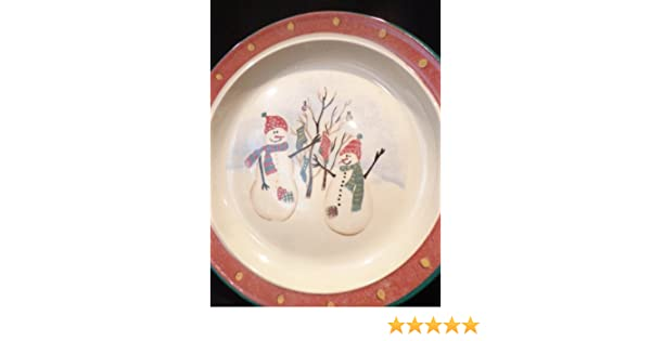 Amazon.com | ROYAL SEASONS SNOWMAN Stoneware Dinner Plate 10  Diameter Christmas Tableware Dinner Plates  sc 1 st  Amazon.com & Amazon.com | ROYAL SEASONS SNOWMAN Stoneware Dinner Plate 10 ...