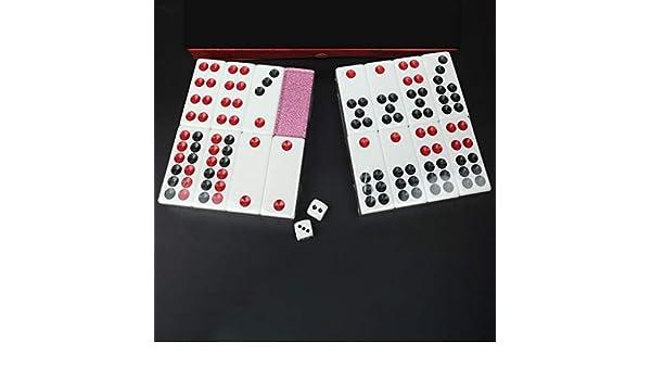 Hexiansheng Chinese PAI Gow Tiles Cards Juego de Casino Juego Familiar Tiempo Libre Juegos 32 Tiles Gold O Pink Or Silver O Green (Color : La Plata) : Amazon.es: Juguetes y juegos