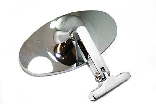 Chrome Aluminum Universal Interior Rear View Mirror Dash Mount Street Hot Rod (Rear Rod View Mirror)