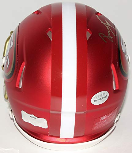 Ronnie Lott San Francisco 49ers Signed Autograph BLAZE Speed Mini Helmet GTSM Lott Hologram Radtke Sports Certified