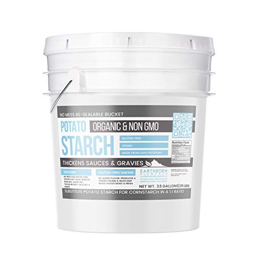 Potato Starch (3.5 gallon (25 lbs.)) by Earthborn Elements, Resealable bucket, Gluten-Free, NON-GMO, All-Natural, Thickener For Sauces, Soup, & Gravy, No Added Preservatives Or Artificial Ingredients by Earthborn Elements (Image #4)