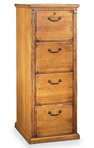 Martin Furniture Huntington Oxford 4-Drawer File Cabinet, Wheat Finish, Fully Assembled