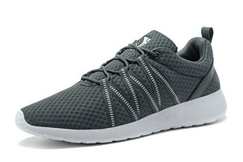 FANIC Herren Sneaker lässig Leicht Laufschuhe Sportliches Training Fitness Sport Schuhe Dunkelgrau