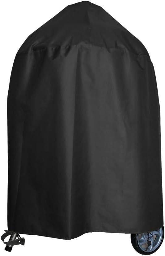 Awnic Funda Barbacoa Redonda Impermeable Resistente al Desgarro 210D Oxford Ø77X70cm