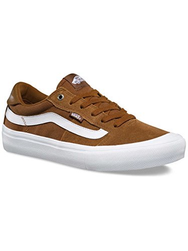 Vans Style 112 Pro Mens Taille 6.5 Femmes Taille 8 Tabac Brun Blanc Chaussures De Skateboard