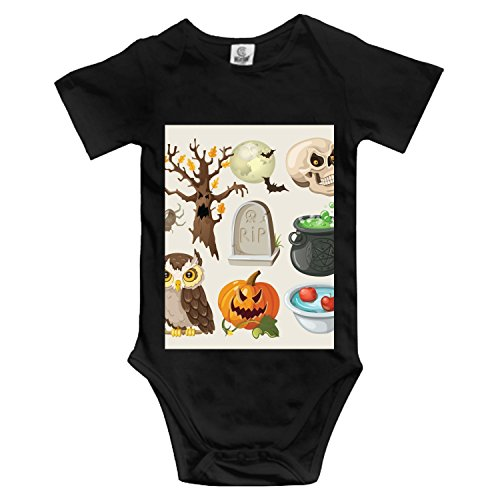 Halloween Color Projects Baby Romper Short Sleeve Onesies Soft Bodysuits for Baby Toddlers