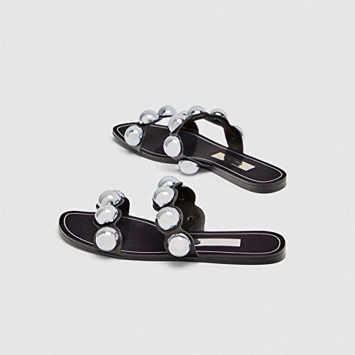 estate YMFIE traspirante il In fondo antislittamento 36 punta primavera sandali spesso nuovo 34 ladies ed ciabattine UtwFUqr
