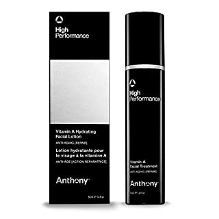 Anthony High Performance Vitamin A, Anti Aging, Facial Treatment, 1.6 Fl Oz. Contains Carrot Root, Shea Butter, Squalane, Hydrates, Soothes, Nourishes, Preserves Youthful Skin