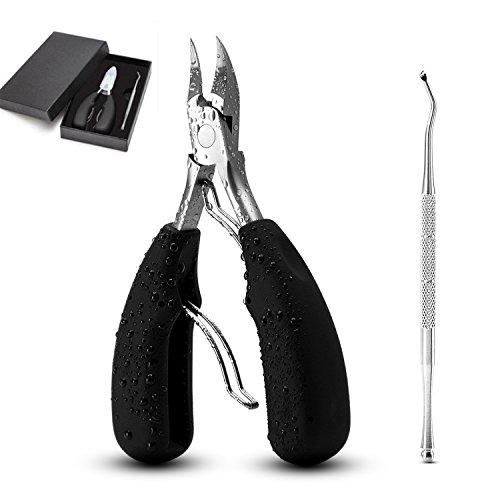 Toenail Clippers, Nail Clipper with Nail Lifter Set, Profssional Stainless Nail Cutter Scissors Toe Cuticle Nipper for Thick Ingrown Toenails by Brendacosmetic