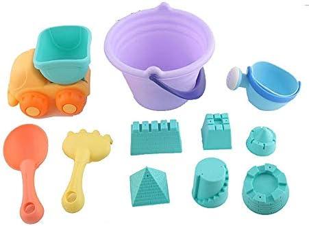 Chennong 子供の夏の砂のおもちゃ、ビーチのおもちゃセット、知育玩具、親子のおもちゃ、砂の浚渫道具、メッシュバッグ付きの公園や海の美しい思い出を残す