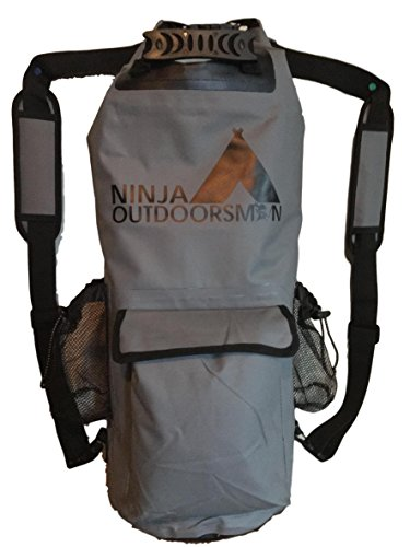Ninja Outdoorsman 30L Waterproof Dry Bag Backpack (Grey)