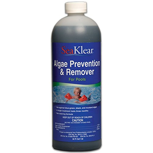 SeaKlear Algae Prevention & Remover - (4) 1 Quart Bottles by SeaKlear
