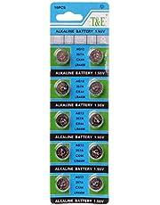 CARRYKT 10 Stück AG13 A76 LR44 357A S76E G13 Knopfzellenbatterie 1,55 V Alkaline Knopfzellenbatterien