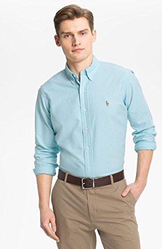 Polo Ralph Lauren Men's Long Sleeve Button Down Oxford Shirt-Aegean blue-Medium (Ralph Lauren Polo Oxford)