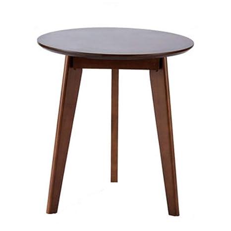 Amazon.com: Mesas de café de madera maciza mesa redonda para ...
