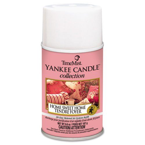 TimeMist Yankee Candle Air Freshener Refill, Home Sweet Home Scent, Aerosol, 6.6 oz - Includes 12 per case. by Timemist