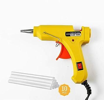 alta temperatura para decoraci/ón Mini pistola de pegamento caliente de 20 W regalos y reparaciones de casa para manualidades para manualidades con pegamento de 7 mm