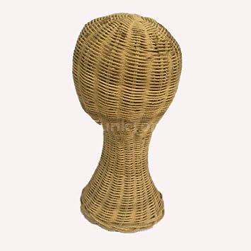 Amazon Com Rattan Mannequin Head Mock Up Display Hat Cap Hair Wig