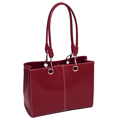McKleinUSA SERENA 11096 Red Faux Leather Ladies' Business Tote