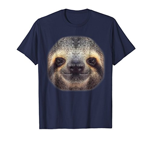 Mens Sloth Shirt - Sloth Face T shirts Large Navy