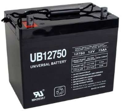 12V 75Ah Battery Replacement for National C75A Wheelchair by Universal Power Group