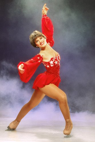 Dorothy Hamill 1984 Ice Skater Pose in red costume Olympic Champion 24x36 Poster