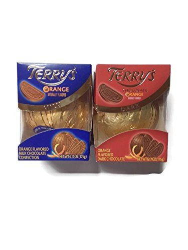 Variety Pack of 2: Terry's Milk Chocolate & Dark Chocolate Orange Ball, 6.17-ounce Boxes (1 of Each)