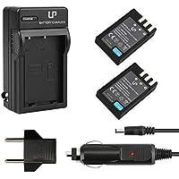 LP EN-EL9 EN EL9a Battery Charger Set, 2-Pack Backup...