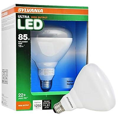 SYLVANIA ULTRA 15-Watt (85W Equivalent) 5,000K BR40 Medium Base (E-26) Daylight Dimmable Indoor Led Flood Light Bulb ENERGY STAR