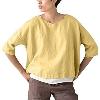 Blusa de Lino y algodón 2019, Newesun, para Mujer, Verano ...
