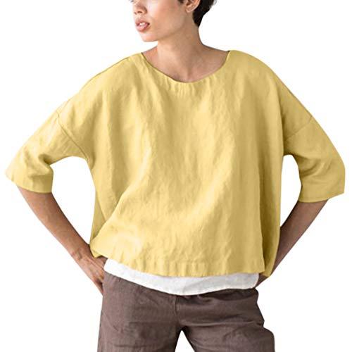 Eaktool Women Summer Shirts for Women Vneck Shirts for Women Workout Shirts for Women Yellow