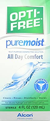 Alcon Opti-Free Puremoist Multi-Purpose Disinfecting Solution, 4 Fluid Ounce