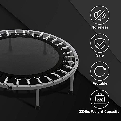 Balanu 40 Inch Mini Exercise Trampoline for Adults or Kids - Indoor Fitness Rebounder Trampoline with Safety Pad | Max. Load 220LBS (Blue-40In-Not Folding) by Balanu (Image #6)