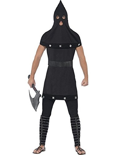 Smiffys Men's Dungeon Costume, Tunic and Hood, Legends of Evil, Halloween, Size ML, 44356