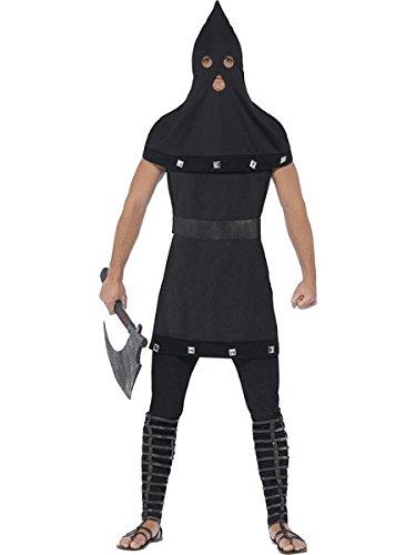 [Smiffy's Men's Dungeon Costume, Tunic and Hood, Legends of Evil, Halloween, Size ML, 44356] (Mens Alien Costume)