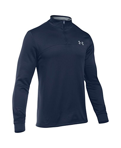 Under Armour Men's Storm Armour Fleece 1/4 Zip, Midnight Navy (410)/Steel, Small by Under Armour (Image #3)