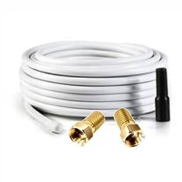 50 m Cable coaxial de antena de satélite Cable Class A 130dB Digital – 4 capas