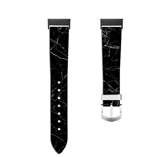 Leather Replacement Bands Compatible for Fitbit Charge 3 and Charge 3 SE Bracelet Strap with Unique for Women Men 634.Rock, Tiles, Structure, Tile, Stone Statues, Background
