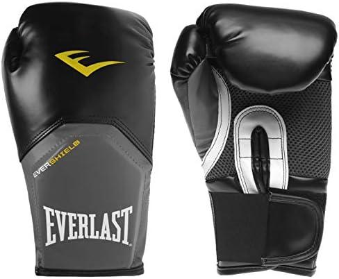Everlast Hombre Elite Guantes De Entrenamiento Boxeo Negro/Gris 16oz: Amazon.es: Ropa y accesorios