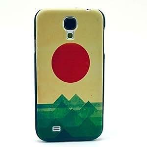 Zaki-The Sea The Sun The Wave Pattern Plastic Protective Back Cover for Samsung Galaxy S4 I9500